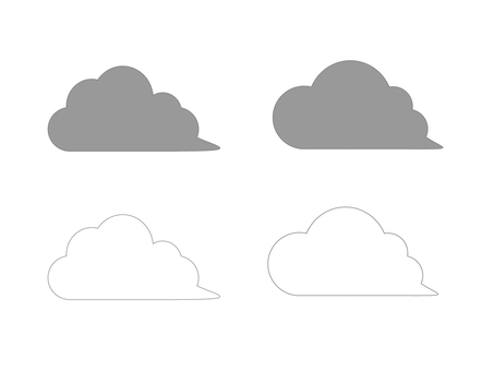 Cloud illustration with a tail