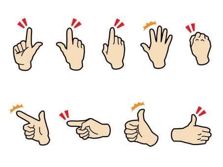 Pushing fingers 3