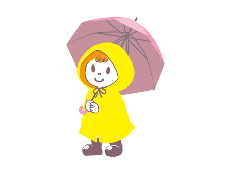 Raincoat children pink