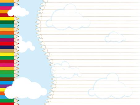 Colored pencil note