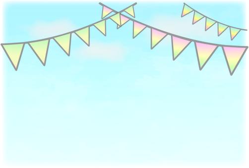 푸른 하늘과 화환