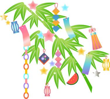 Tanabata sausage ornament