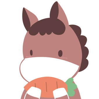 Horse with carrot