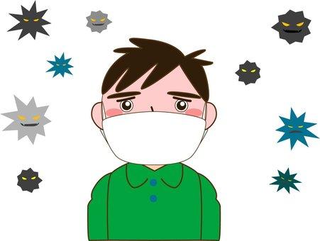 Mask and virus 02