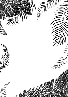 Tropical plant silhouette