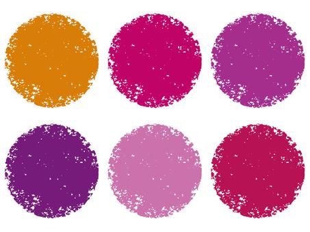 Stamp circle _ wine series _ cs