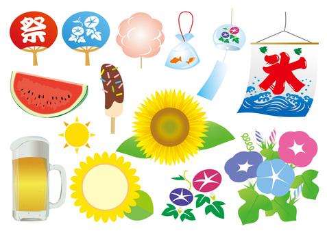 Summer materials various