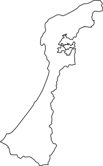 Ishikawa Prefecture_ Line Drawing