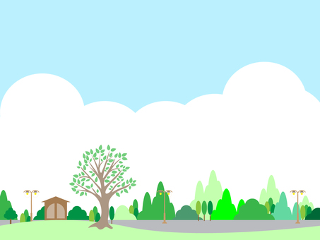 Scenery with trees