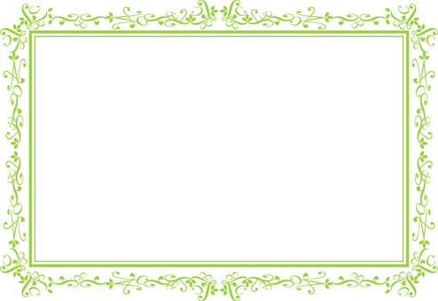 優雅的框架綠色