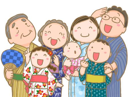 Family worn in Yukata