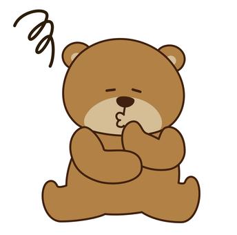 Bear thinking character