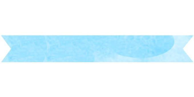 Watercolor ribbon frame light blue