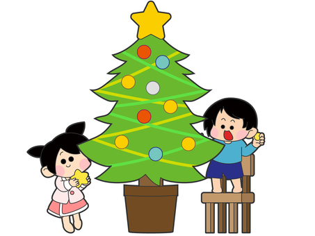 Christmas tree children decoration