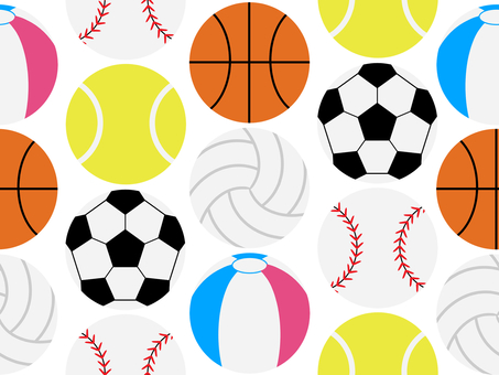 Ball seamless pattern