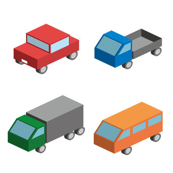 4 cars (no wire)