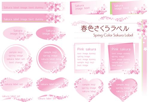 Spring Color Sakura Label