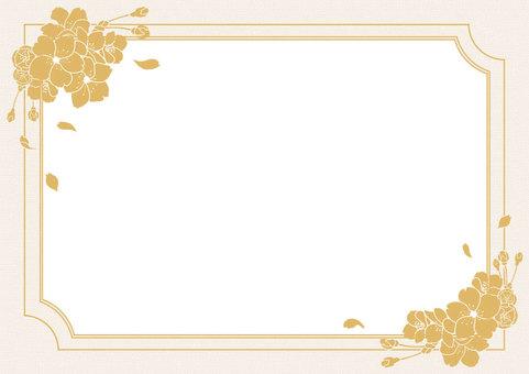樱花金框架