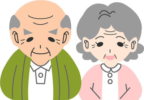 【People】 Grandpa Grandma (upper)