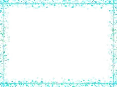 Dot & square frame 2 (light blue)