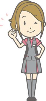 Pachi Women's Clerk - Guts Wink - Full Length