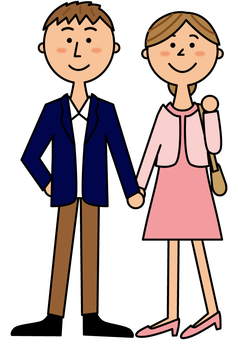 Young couple _ suit dress _ whole body