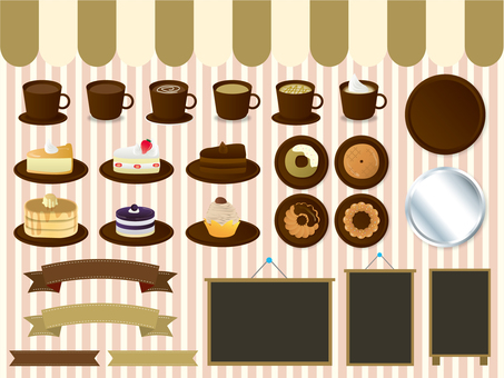 Cafe illustration set 02