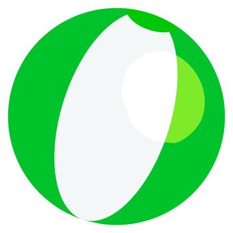 Beach ball (green)