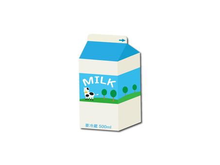 Illustration of milk pack