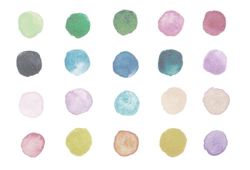 Watercolor polka dots-2