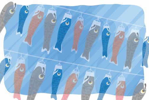 鲤鱼飘带鲤鱼旗