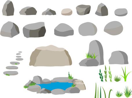 돌 소재 세트