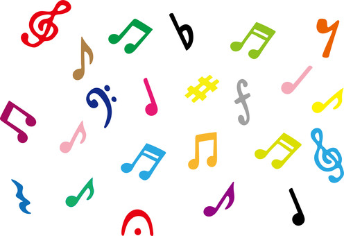 Musical note illustration set