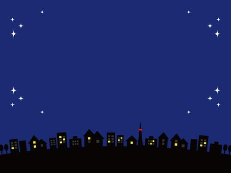 Night sky cityscape star