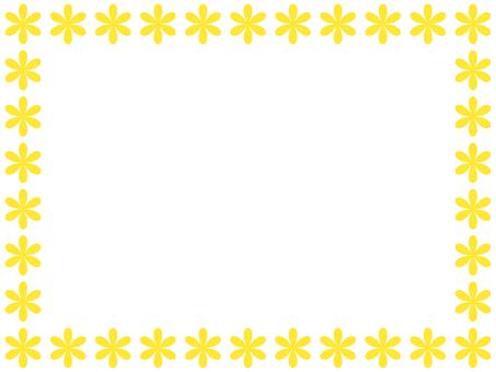 Flower frame 2 (yellow)