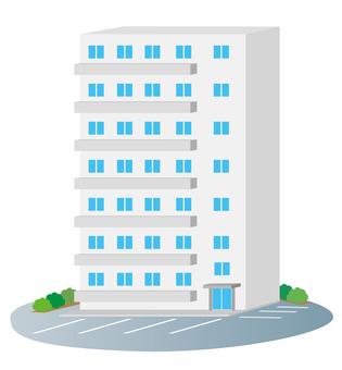 고층 아파트 건물