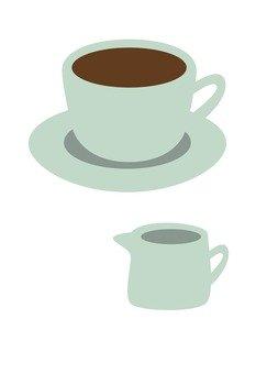 커피와 우유 (백색)