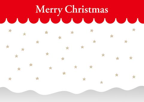 Red white star glitter christmas background material