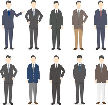 Set of businessmen