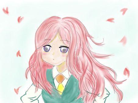 Sakura high school student