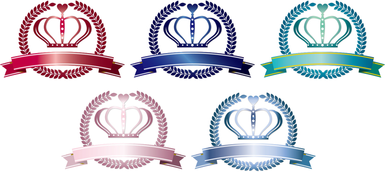 Crown of various colors