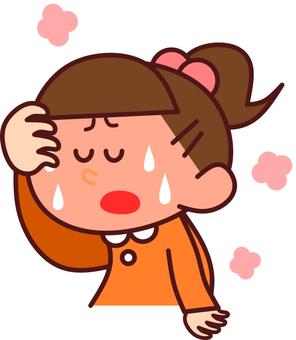 Girl with fever (upper body)