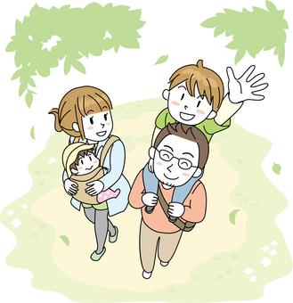 家庭家庭新鮮綠色
