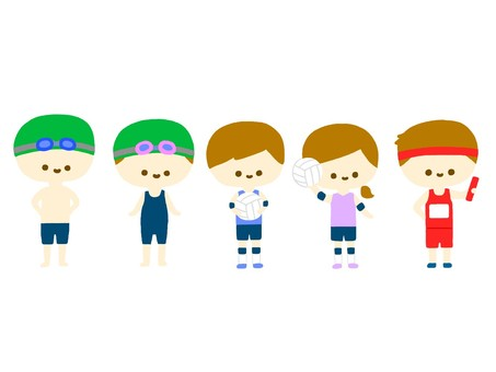 Club activity illustration ③