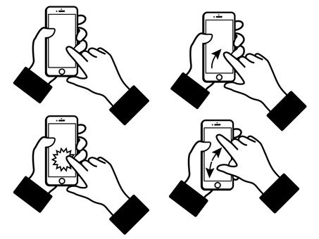 Set of hands to operate smartphone