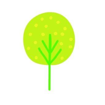 Scandinavian trees (yellowish green, circular)