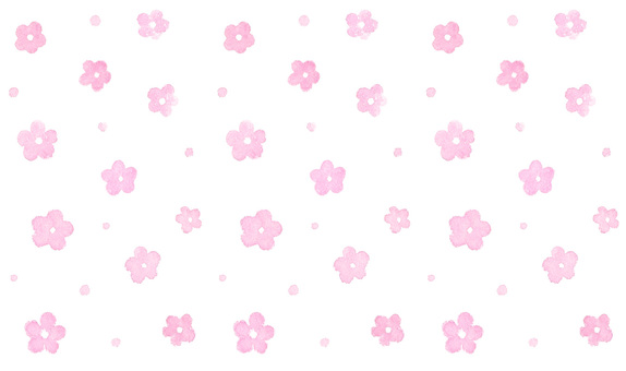 Watercolor hand-painted * Floral scattering pattern * Pink