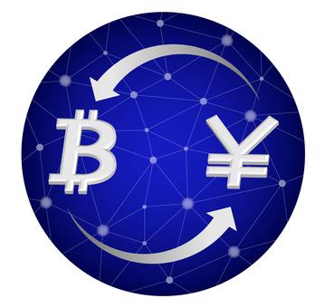 Bit coin circle trade image