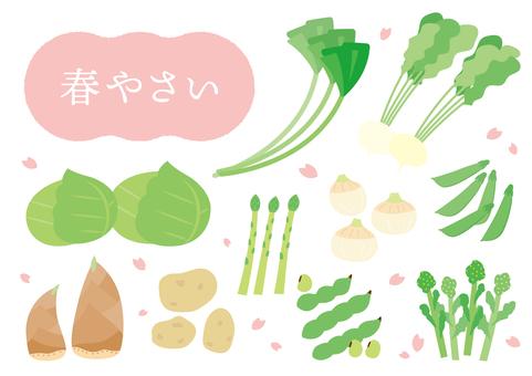 Spring vegetables various set