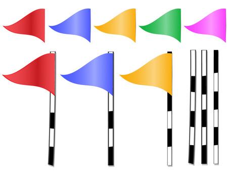 Golf Flag Pin Flag ai Material